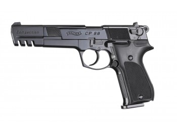 PISTOLET WALTHER CP88 COMPETITION CO2 CAL 4.5MM BRONZE CROSSE PLAST 6 POUCES