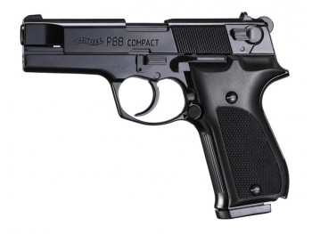 WALTHER P88 COMPACT NOIR 9MM PAK A BLANC