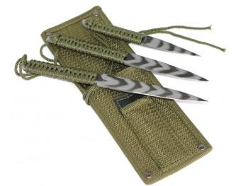 3 Couteaux de jet Kaki
